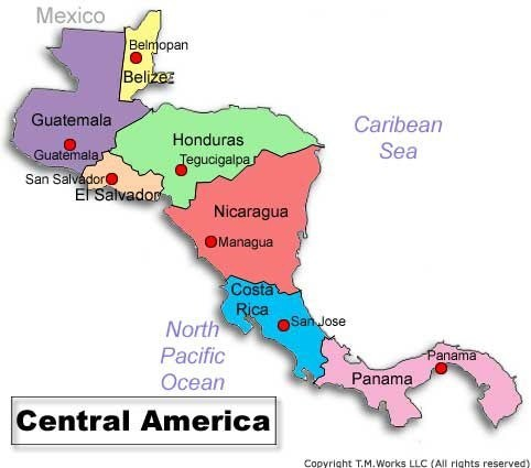 a geographical overview of costa rica a country in central america This page has a map of central america visit the map for more specific information about the countries, history honduras, el salvador, nicaragua, costa rica.